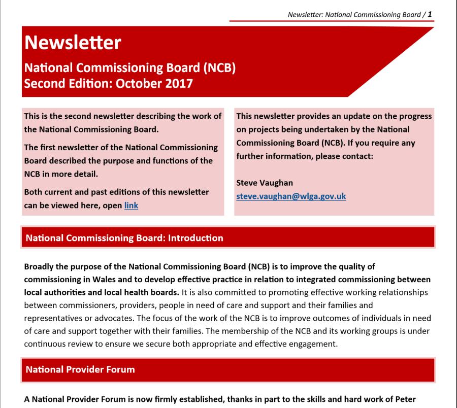 NCB Newsletter