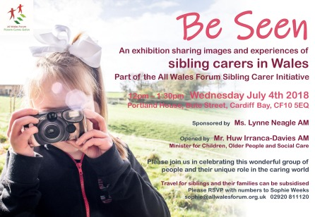 Sibling Carer Exhibition Invite ENG